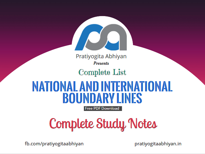 Complete list ofNational and International Boundary Lines