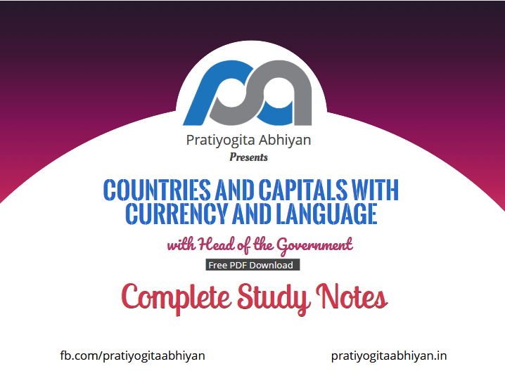 Countries and Capitals with Currency and Language