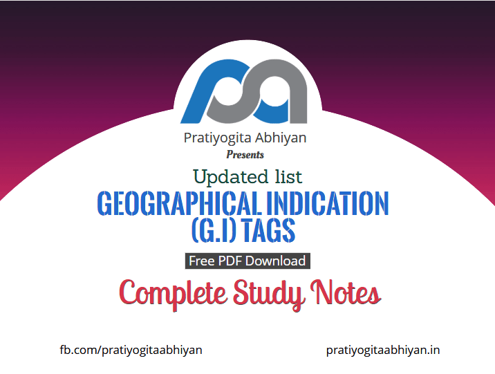 Updated List of Geographical Indication (G.I) Tags in India