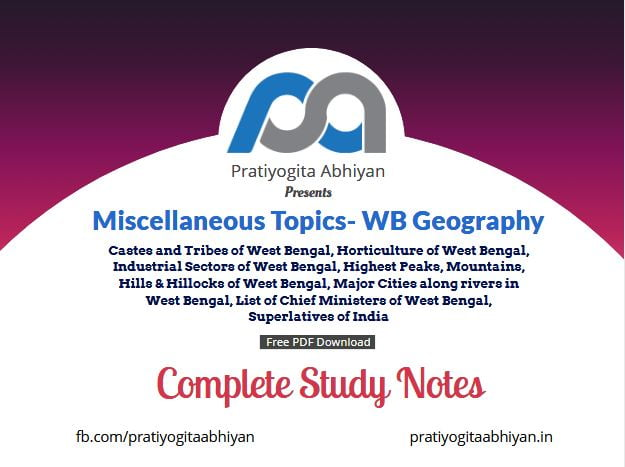 Miscellaneous Topics- WB Geography Free PDF Download