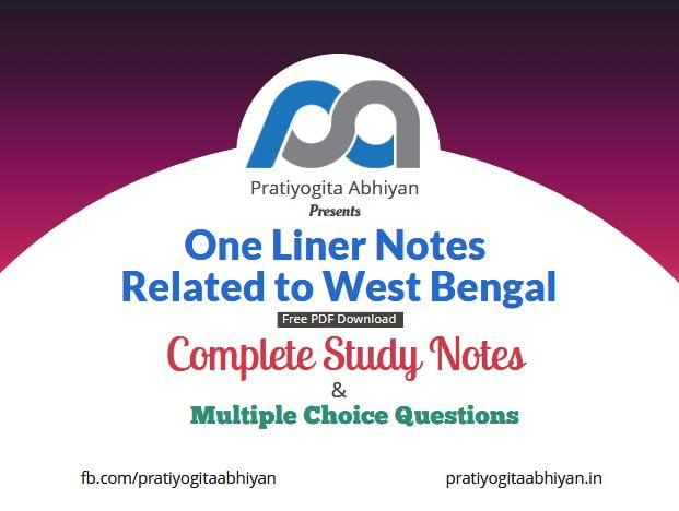 One Liner Notes related to West Bengal Free PDF Download