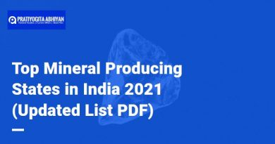 Top Mineral Producing States in India 2021 (Updated List PDF)